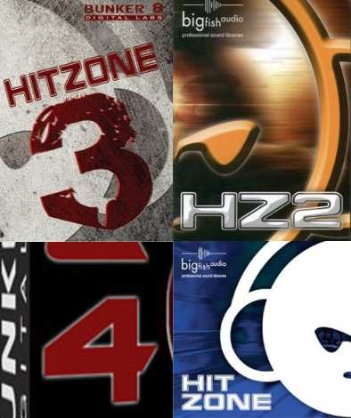 Bunker 8 Hit Zone Vol.1-4 MULTiFORMAT BUNDLE