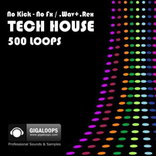 500 Tech House Loops WAV REX2-DiSCOVER