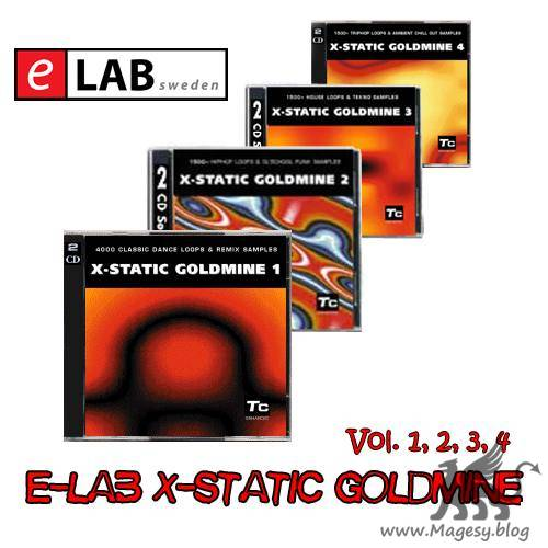E-LAB X-static Goldmine Vol.1, 2, 3, 4, 5 AKAi WAV-P2P