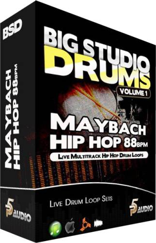 P5 Audio Big Studio Drums Maybach Hip Hop 88 Bpm MULTiFORMAT