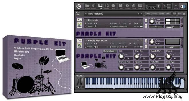 Purple Kit For KONTAKT LiVE LOGiC GARAGEBAND-AMPLiFY