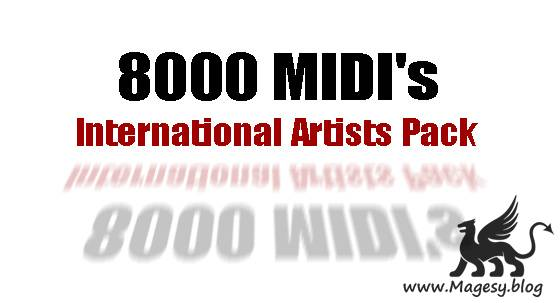 8000 MIDI's International Artists Pack MiDi