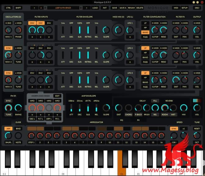 Monique v1.0.3 AU VST VSTi WiN LiNUX MAC-R2R