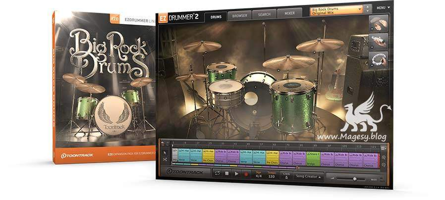 EZX2 Big Rock Drums v1.0.1 WiN MAC-R2R