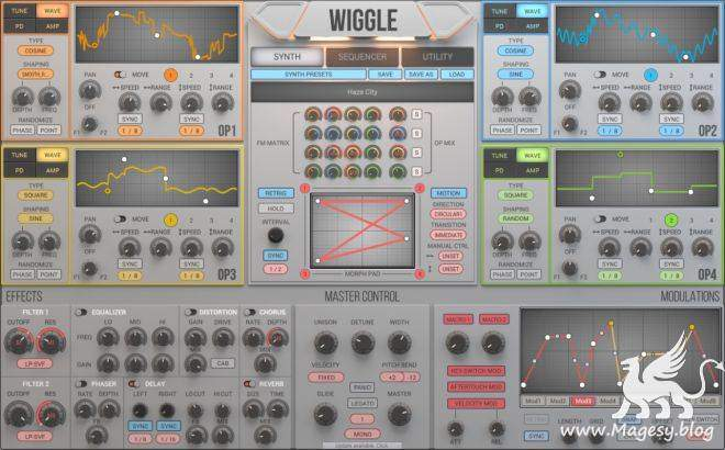 Wiggle v1.1.9 AU VST VSTi WiN MAC R2R | Images From Magesy® R Evolution™