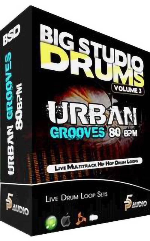 Big Studio Drums Urban Grooves 80 Bpm MULTiFORMAT-DiSCOVER