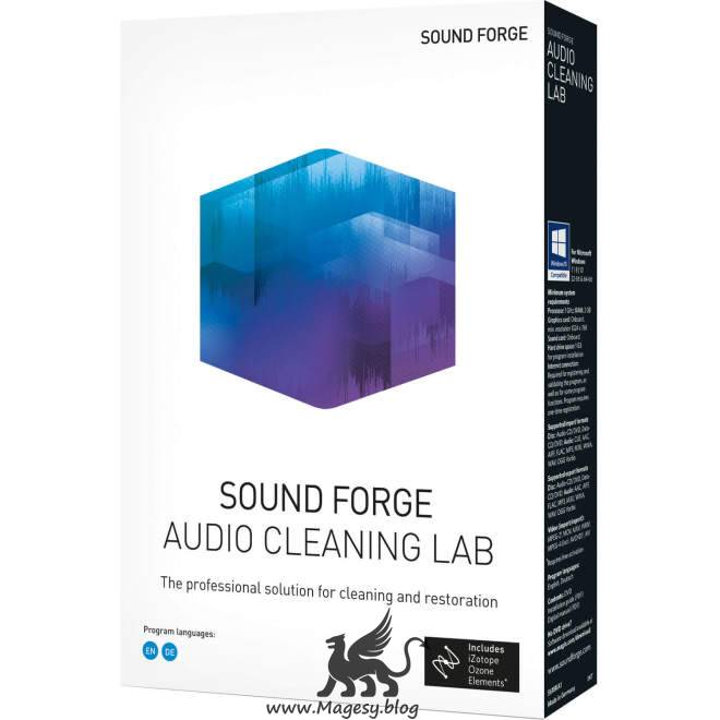 SOUND FORGE Audio Cleaning Lab 3 v25.0.0.43 WiN