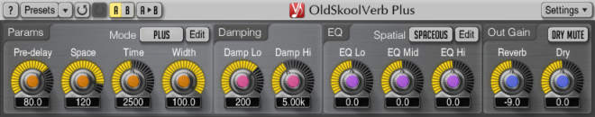 OldSkoolVerb Plus AU AAX VST VST3 WiN MAC-R2R