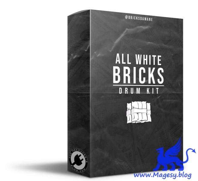 All White Bricks Drum Kit WAV FLP