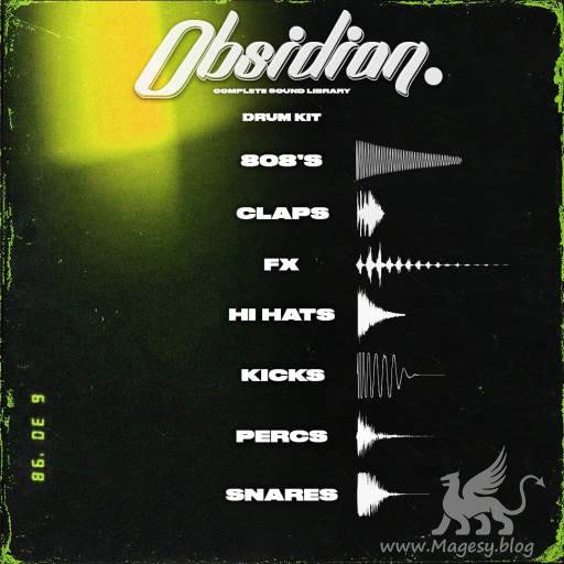 Obsidian Drum Kit WAV