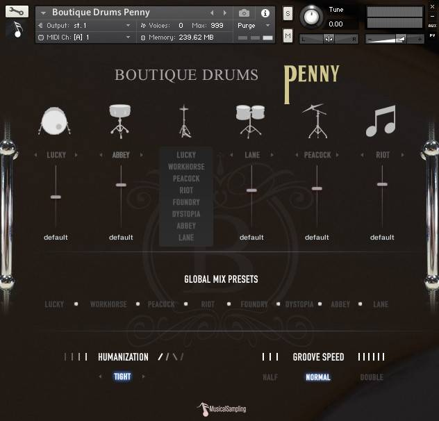Penny DRUMS KONTAKT HAPPY NEW YEAR