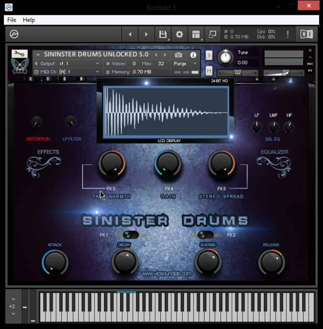 Sinister Drums HD SAMPLES KONTAKT