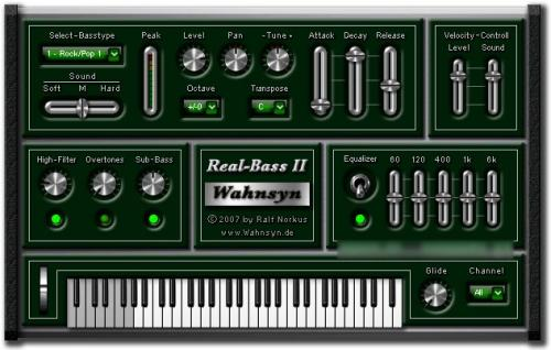 Wahnsyn Real Bass II VSTi v1.0 peace out  | Images From Magesy® R Evolution™