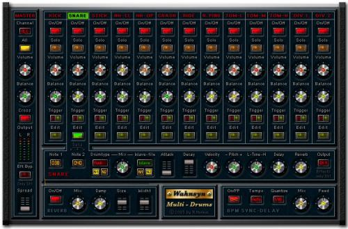 Wahnsyn Multi Drums VSTi v1.0 peace out  | Images From Magesy® R Evolution™