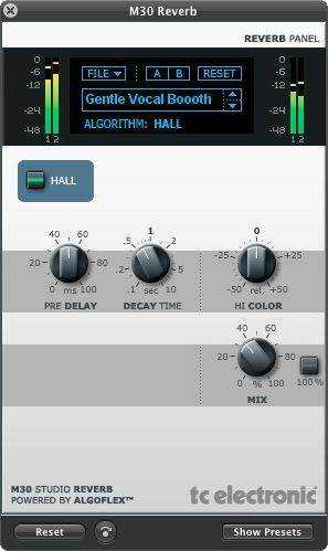 TC Electronic M30 Studio Reverb v1.0 VST AU WiN MAC UNION | Images From Magesy® R Evolution™