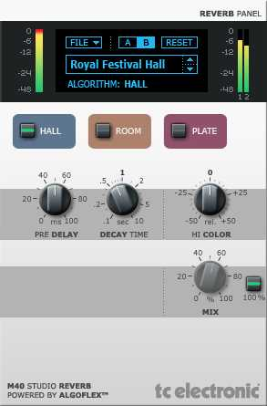 TC Electronic M40 Studio Reverb 1.0.5 WiN UNiON | Images From Magesy® R Evolution™