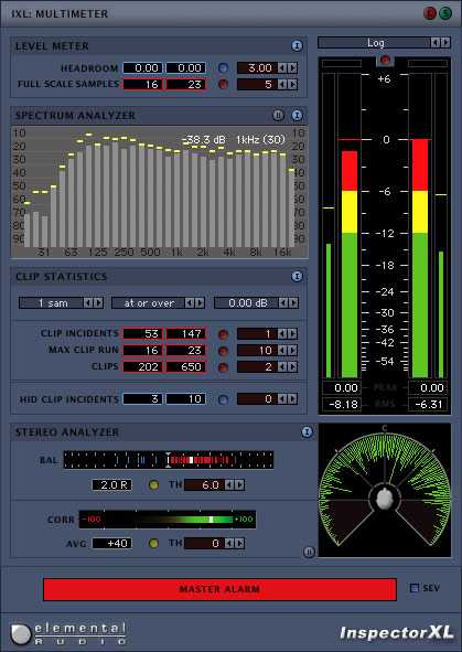 Inspector XL Analysis PlugIn Suite v1.0 VST RTAS x86 WiN H2O | Images From Magesy® R Evolution™