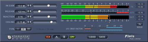 Elemental Audio Finis Peak Limiting Plugin VST RTAS v1.0.1 H2O | Images From Magesy® R Evolution™