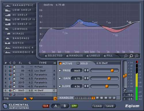 Elemental Audio Eqium Eq PlugIn VST RTAS v2.1.3 H2O | Images From Magesy® R Evolution™