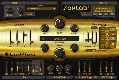 LinPlug SaxLab v2.2.1 WiN v2.2.2 MAC R2R | Images From Magesy® R Evolution™