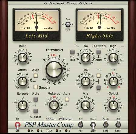 PSP MasterComp v1.8.0 AU AAX VST RTAS WiN MAC R2R | Images From Magesy® R Evolution™