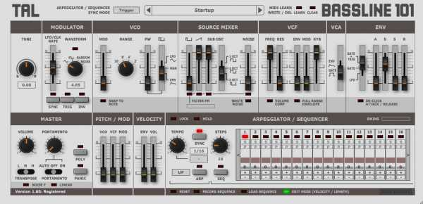 TAL BassLine 101 v3.1.2 AU AAX VST VSTi x86 x64 WiN MAC R2R   Images From Magesy® R Evolution™