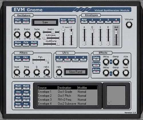 Evm Synths Gnome v1.0 VSTi WiN peace out   Images From Magesy® R Evolution™