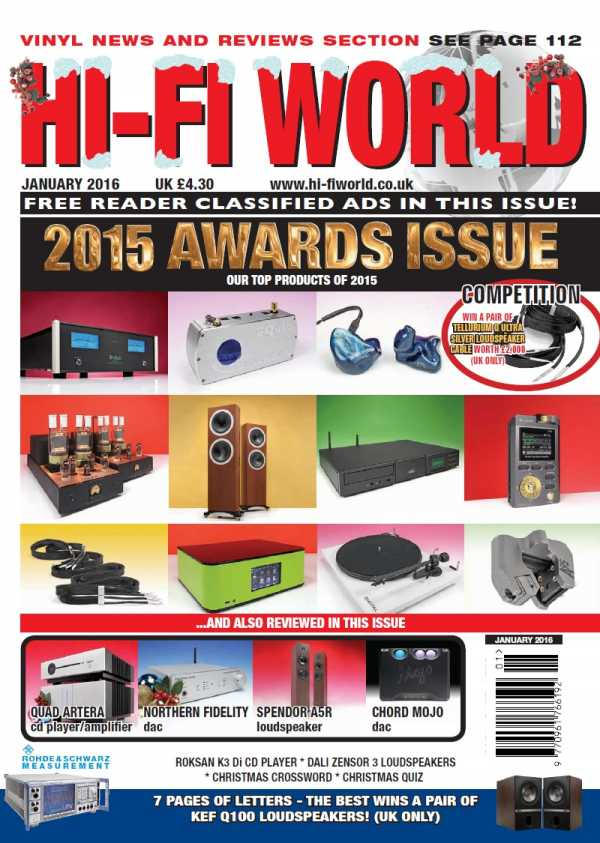 Hi Fi World   January 2016 | Images From Magesy® R Evolution™