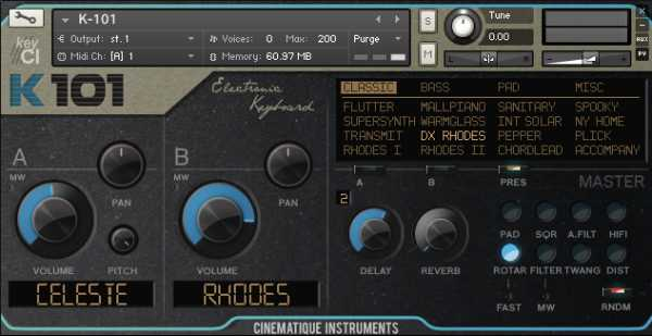 K 101 Keyboard KONTAKT SYNTHiC4TE | Images From Magesy® R Evolution™
