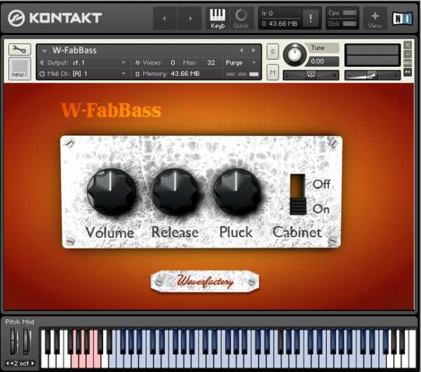 W FabBass KONTAKT SCD SONiTUS | Images From Magesy® R Evolution™