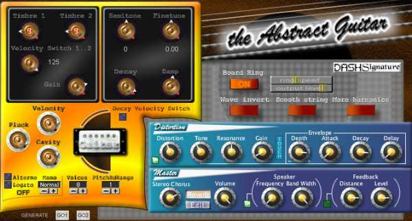 Dash Signature The Abstract Guitar v1.26 VSTi WiN H2O | Images From Magesy® R Evolution™