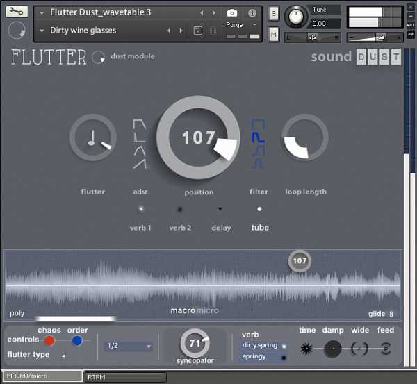 Flutter Dust Module KONTAKT SYNTHiC4TE | Images From Magesy® R Evolution™