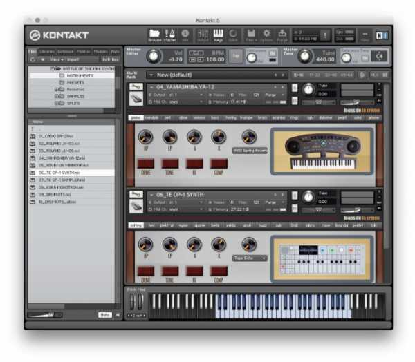 Battle Of The Mini Synths KONTAKT SYNTHiC4TE | Images From Magesy® R Evolution™