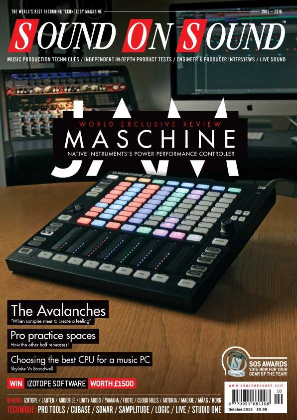 Sound On Sound October 2016 PDF   Images From Magesy® R Evolution™