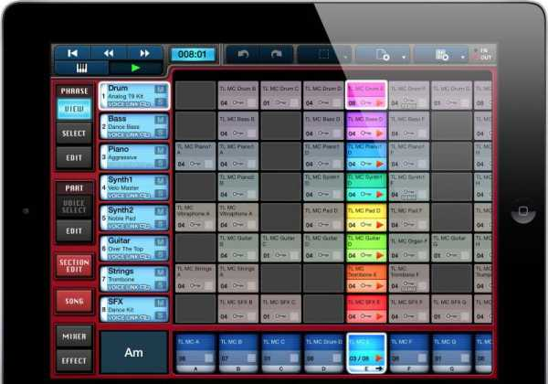 Yamaha Mobile Music Sequencer v3.3.3 iOS | Images From Magesy® R Evolution™