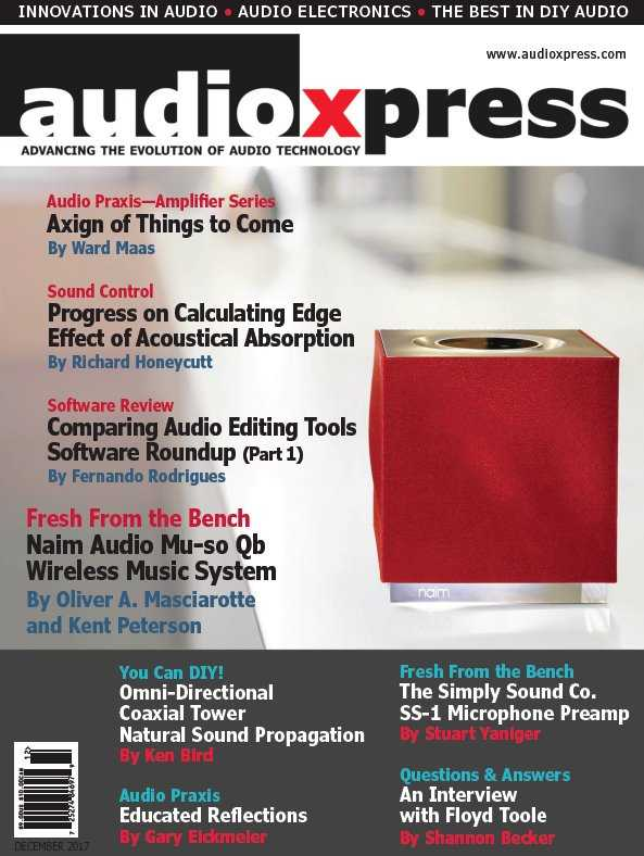 audioXpress   December 2017 | Images From Magesy® R Evolution™