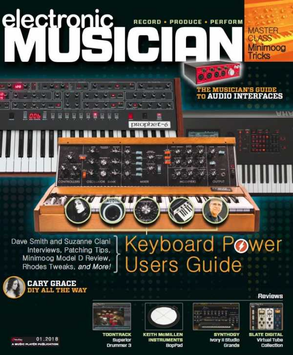 Electronic Musician   January 2018 | Images From Magesy® R Evolution™