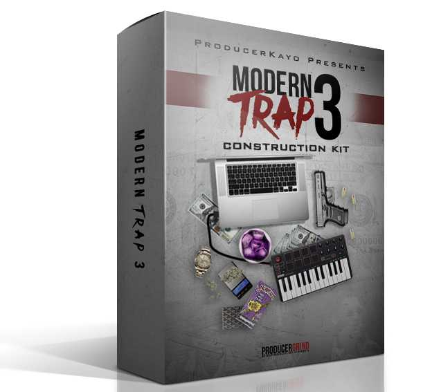 """The """"Modern Trap"""" Construction Kit Part 3 WAV MiDi 