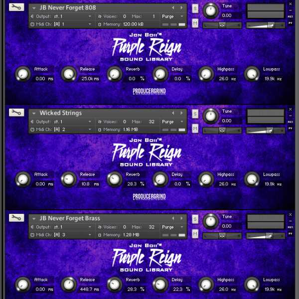 Purple Reign Drum Kit and KONTAKT | Images From Magesy® R Evolution™