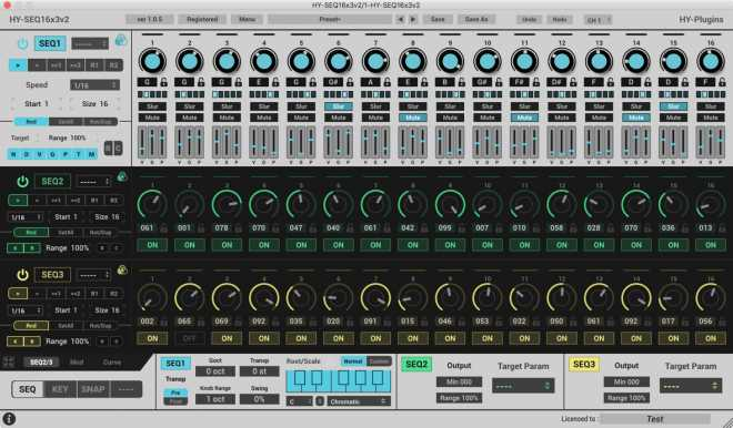 HY SEQ16x3 v2 AU VSTi VST3 x86 x64 v1.2.2 WiN v1.1.6 MAC R2R | Images From Magesy® R Evolution™