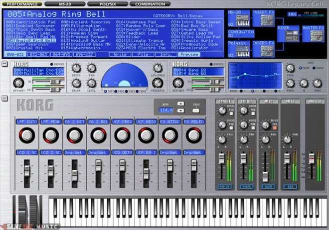 KORG LegacyCell v1.4.3 WiN R2R | Images From Magesy® R Evolution™